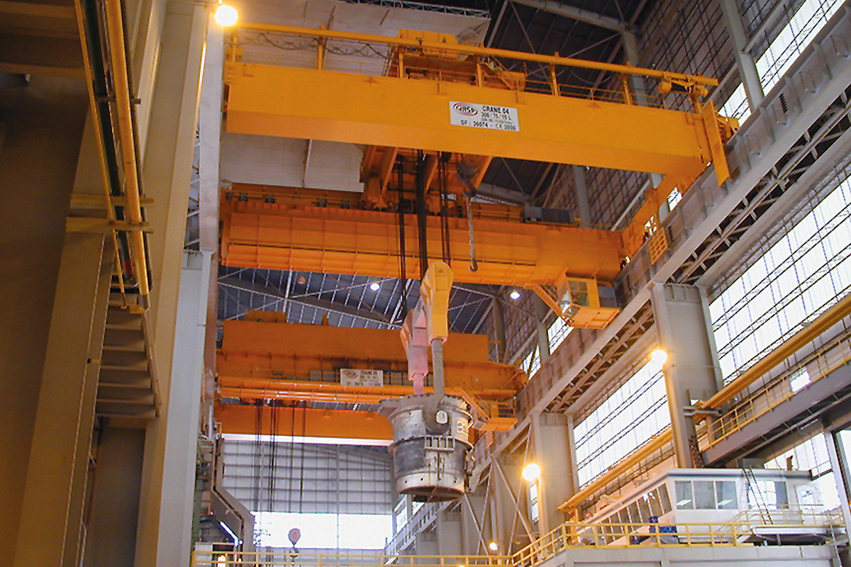 EAF Charging and ladle handling cranes