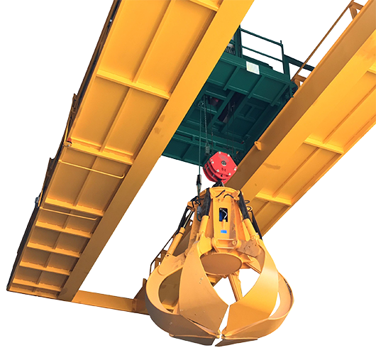 Cutting-edge cranes for processing urban waste