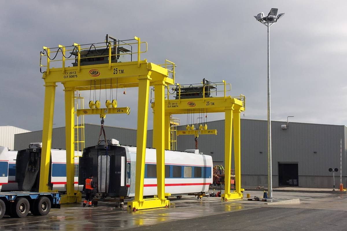 TALGO opts for JASO Industrial Cranes
