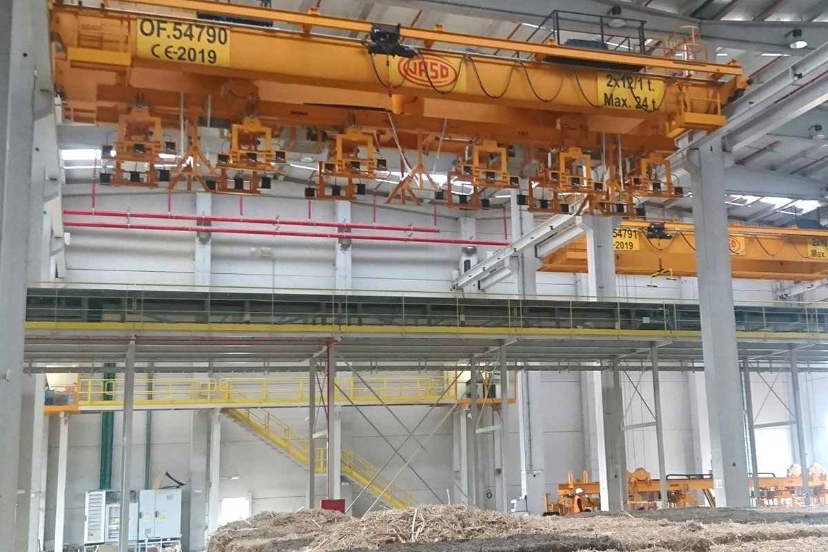 bridge cranes for biomass plant
