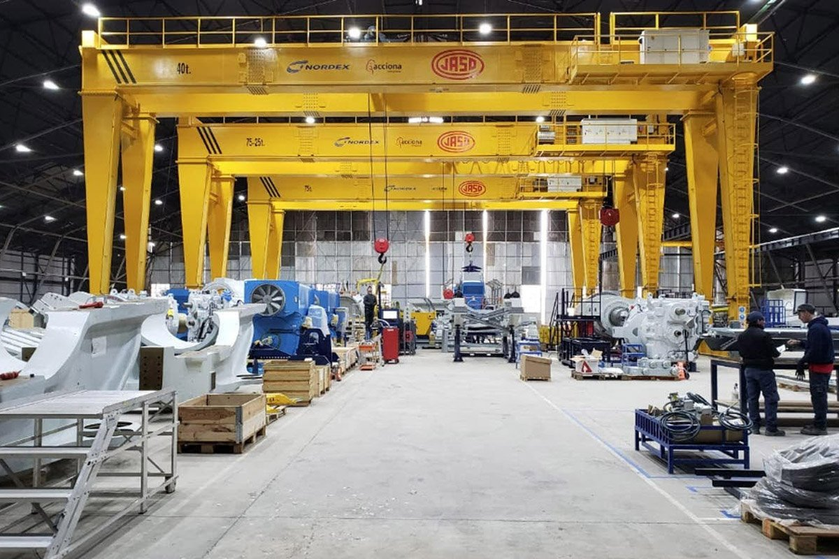 Cranes for wind turbine plant