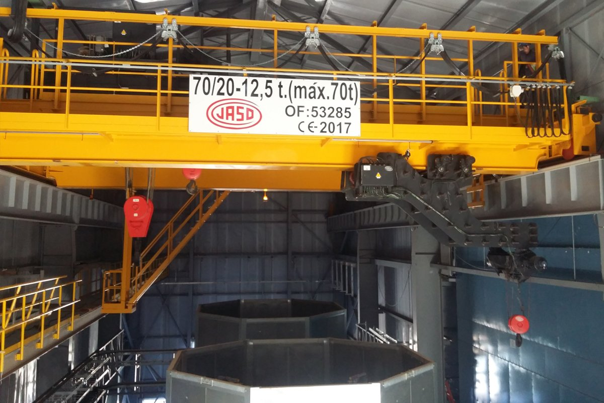 Industrial cranes for thermal power plants