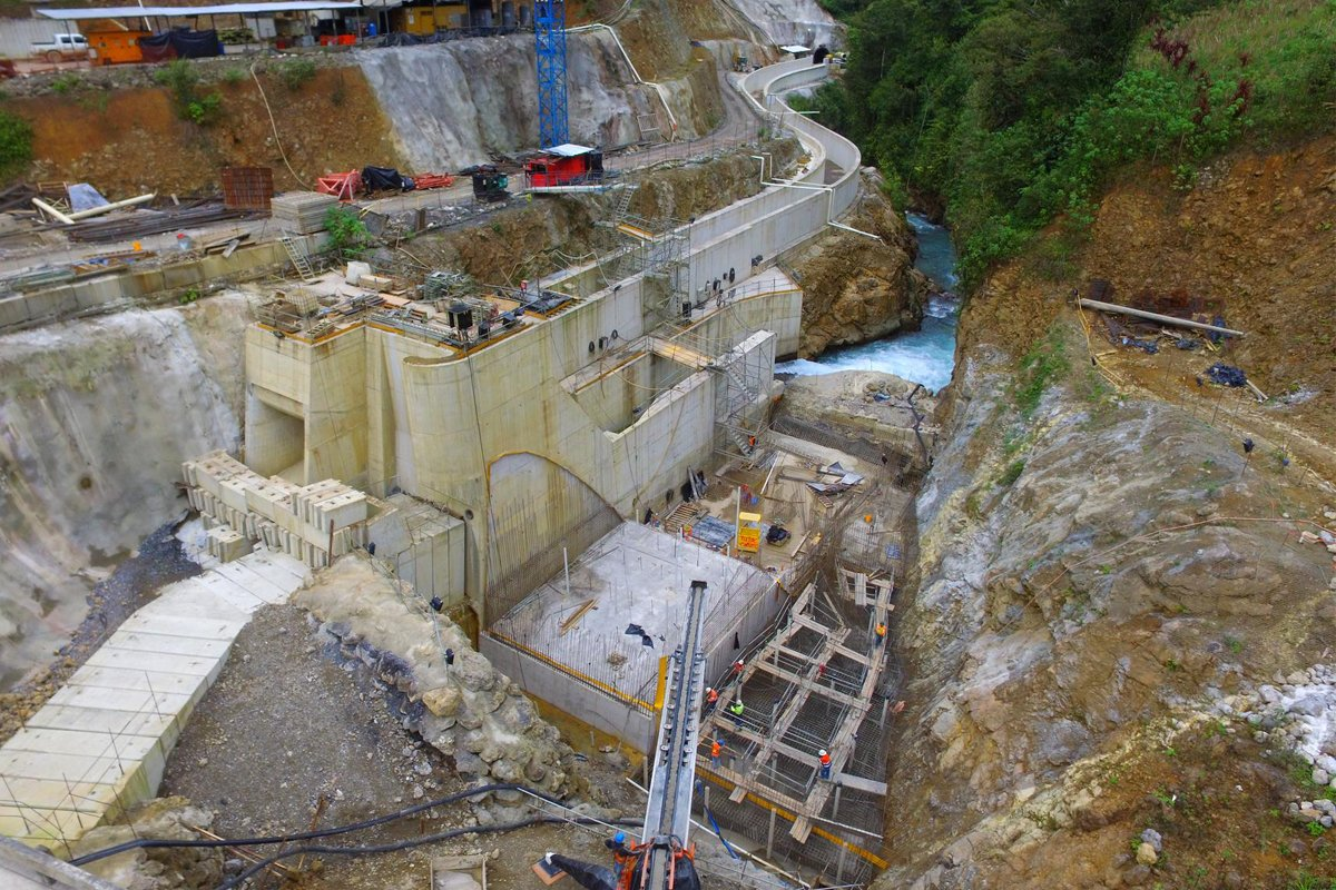 JASO Industrial Cranes in Renace hydroelectric